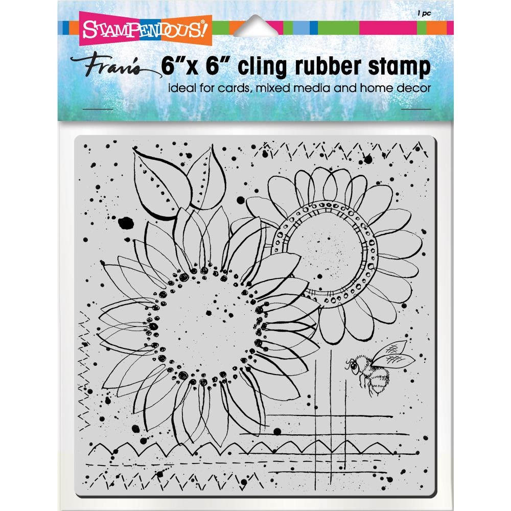 Stampendous Cling Stamp SUNNY SKETCH Rubber UM 6cr004  zoom image