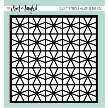 Neat and Tangled GEOMETRIC CIRCLES Stencil NAT353