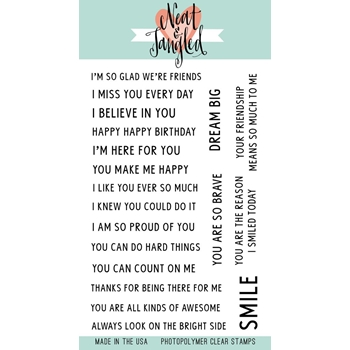 Neat and Tangled SO MANY SENTIMENTS Clear Stamp Set NAT351