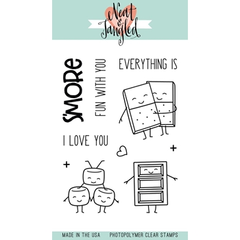 Neat and Tangled S'MORE FUN Clear Stamp Set NAT347