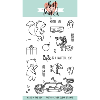 Neat and Tangled RIDE WITH ME Clear Stamp Set NAT349