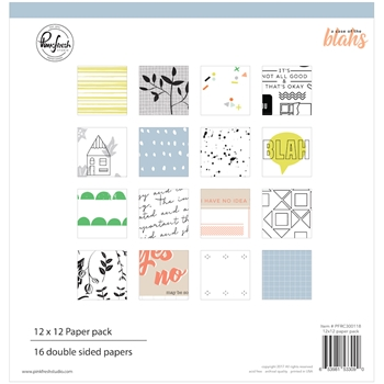 Pinkfresh Studio A CASE OF THE BLAHS 12 x 12 Paper Pack pfrc300118