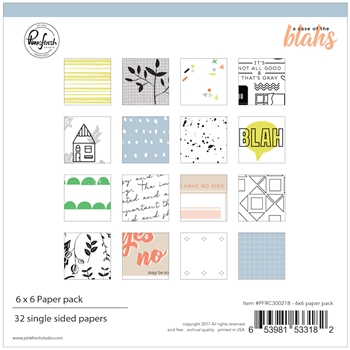 Pinkfresh Studio A CASE OF THE BLAHS 6 x 6 Paper Pack pfrc300218
