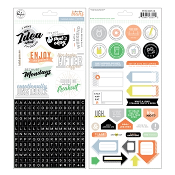 Pinkfresh Studio A CASE OF THE BLAHS Cardstock Stickers pfrc300518