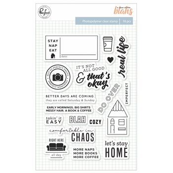 Pinkfresh Studio A CASE OF THE BLAHS Clear Stamp Set pfrc301118