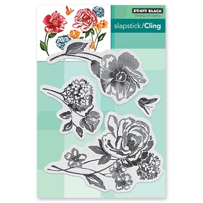 Penny Black Cling Stamp FLOWER PAGEANT Rubber Unmounted 40-601