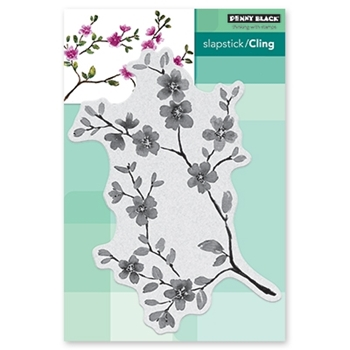 Penny Black Cling Stamp FLORAL BLISSFUL BLOOMS Rubber Unmounted 40-600