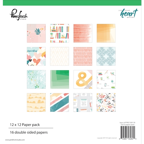 Pinkfresh Studio LET YOUR HEART DECIDE 12 x 12 Paper Pack pfrc100118* Preview Image