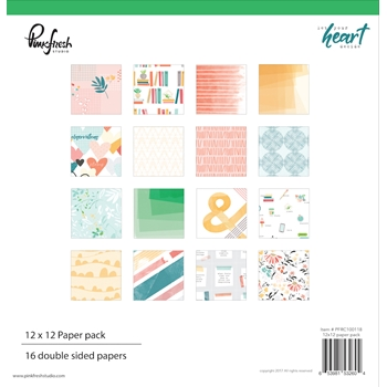Pinkfresh Studio LET YOUR HEART DECIDE 12 x 12 Paper Pack pfrc100118