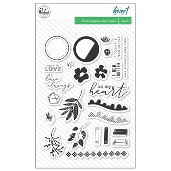 Pinkfresh Studio LET YOUR HEART DECIDE Clear Stamp Set pfrc101318