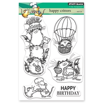 Penny Black Clear Stamps HAPPY CRITTERS 30-479