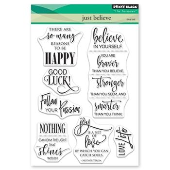 Penny Black Clear Stamps JUST BELIEVE 30-470