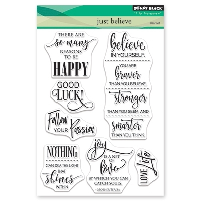 Penny Black Clear Stamps JUST BELIEVE 30-470 zoom image