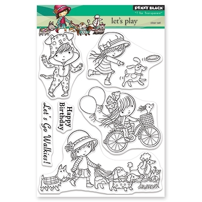 Penny Black Clear Stamps LET'S PLAY 30-468 Preview Image