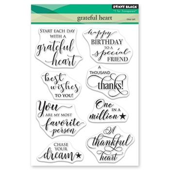 Penny Black Clear Stamps GRATEFUL HEART 30-467