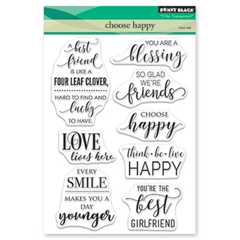 Penny Black Clear Stamp CHOOSE HAPPY 30-464