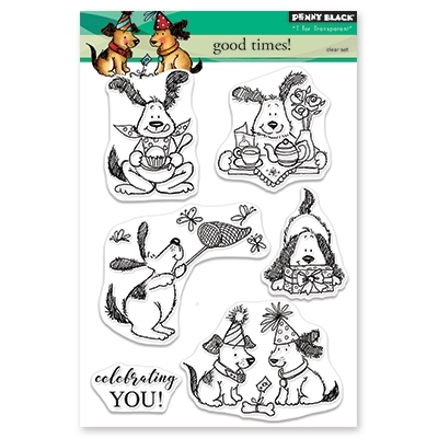 Penny Black Clear Stamps GOOD TIMES 30-463 zoom image