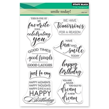 Penny Black Clear Stamps SMILE TODAY 30-461