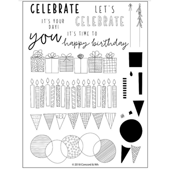 Concord & 9th BIRTHDAY STACKS Clear Stamp Set 10352