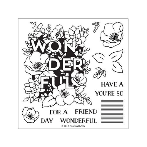 Concord & 9th WONDERFUL FLORALS Clear Stamp Set 10362 Preview Image