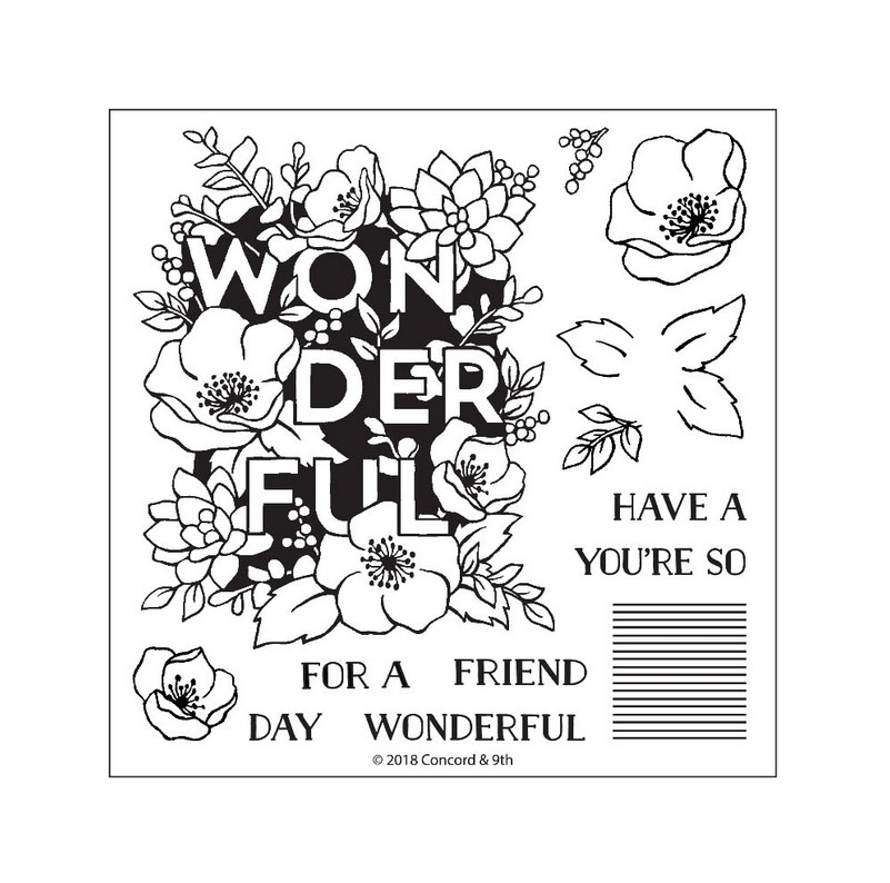 Concord & 9th WONDERFUL FLORALS Clear Stamp Set 10362 zoom image