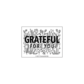 Concord & 9th GRATEFUL FOR YOU Clear Stamp Set 10253