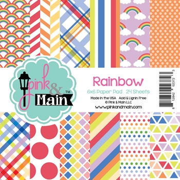Pink and Main 6x6 RAINBOW Paper Pad 023723