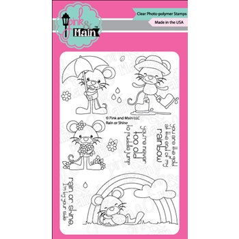 Pink and Main RAIN OR SHINE Clear Stamp Set PM0262