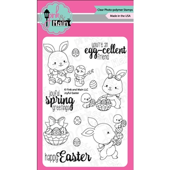Pink and Main JOYFUL EASTER Clear Stamp Set PM0260