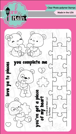 Pink and Main TO PIECES Clear Stamp Set PM0263 zoom image