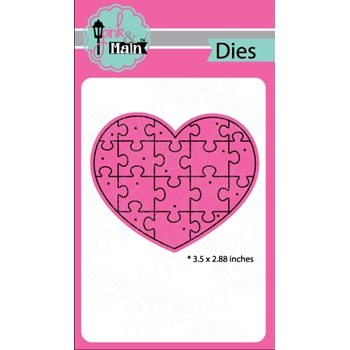 Pink and Main HEART PUZZLE Die Set PNM138
