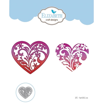 Elizabeth Craft Designs HEARTFELT LOVE Craft Die 1475