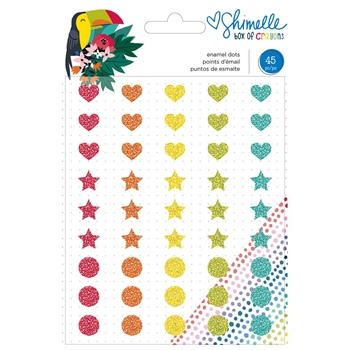 American Crafts Shimelle ENAMEL DOTS Box of Crayons 346617
