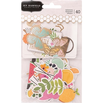 Pebbles Inc. Jen Hadfield EPHEMERA Patio Party Cardstock Die Cuts 733782