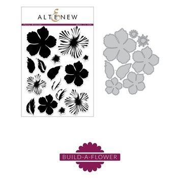 Altenew BUILD A FLOWER PEONY BLOSSOM Clear Stamp and Die Set ALT2123