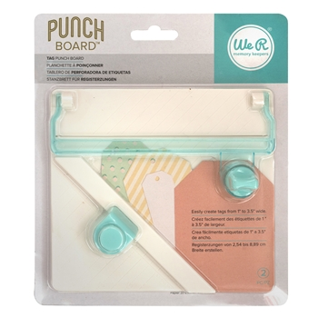 We R Memory Keepers TAG Punch Board 660248