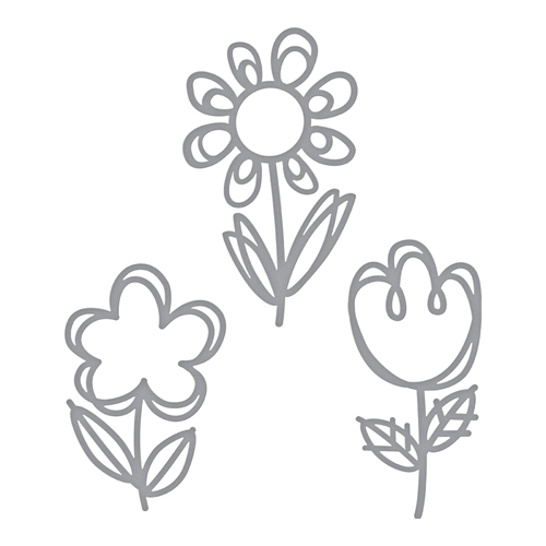 S3-322 Spellbinders SKETCHED BLOOMS Etched Dies Preview Image