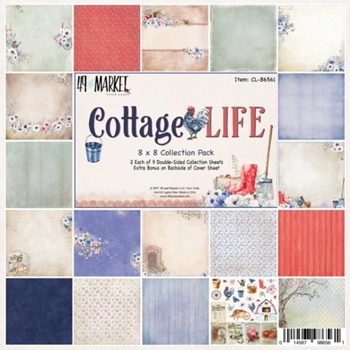 49 and Market COTTAGE LIFE 8X8 Paper Pack CL-86561
