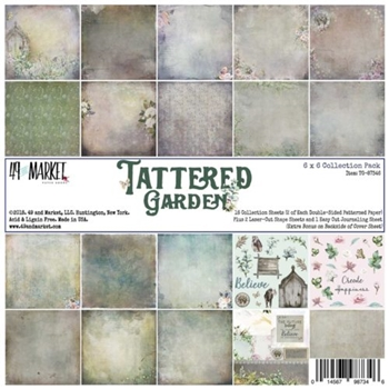49 and Market TATTERED GARDEN 6X6 Paper Pack TG-87346