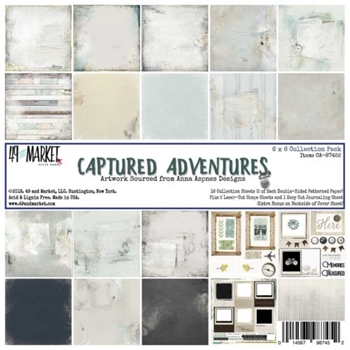 49 and Market CAPTURED ADVENTURES 6X6 Paper Pack CA-87452