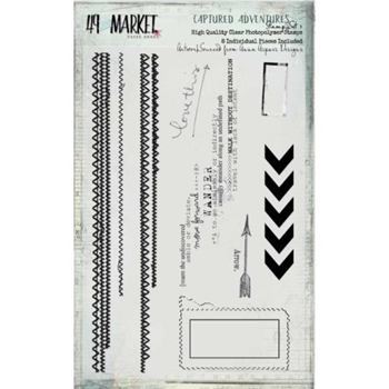49 and Market CAPTURED ADVENTURES STAMP SET 1 Clear Stamp CA-87469