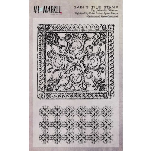 49 and Market GABI'S TILE Clear Stamp Set GP-87537* Preview Image