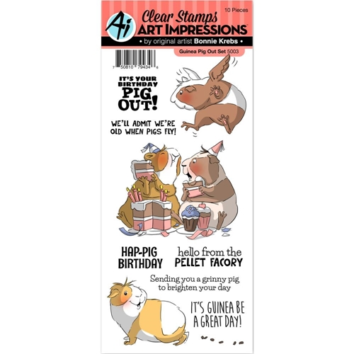 Art Impressions GUINEA PIG OUT Clear Stamps 5003 Preview Image