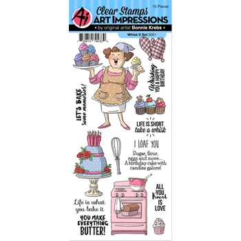 Art Impressions WHISK IT Clear Stamps 5001