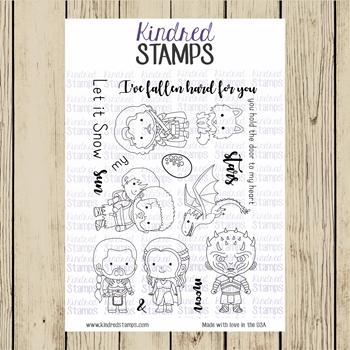 Kindred Stamps HEIRS TO THE THRONE Clear Stamp Set ks9091