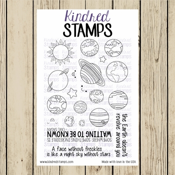 Kindred Stamps OUTER SPACE Clear Stamp Set ks5555