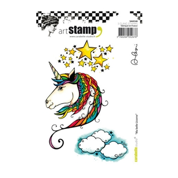 Carabelle Studio MA BELLE LICORNE Cling Stamp sa60348