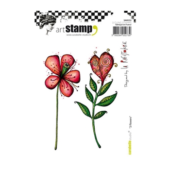 Carabelle Studio 2 FLOWERS Cling Stamp sa6035