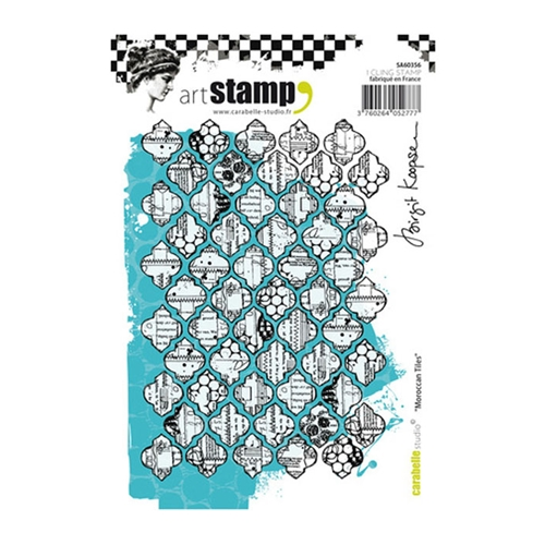Carabelle Studio MOROCCAN TILES Cling Stamp sa60356 Preview Image