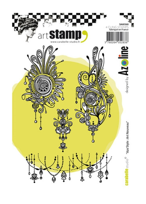 Carabelle Studio AZOSTYLE ART NOUVEAU By Azoline Cling Stamp sa60360 zoom image